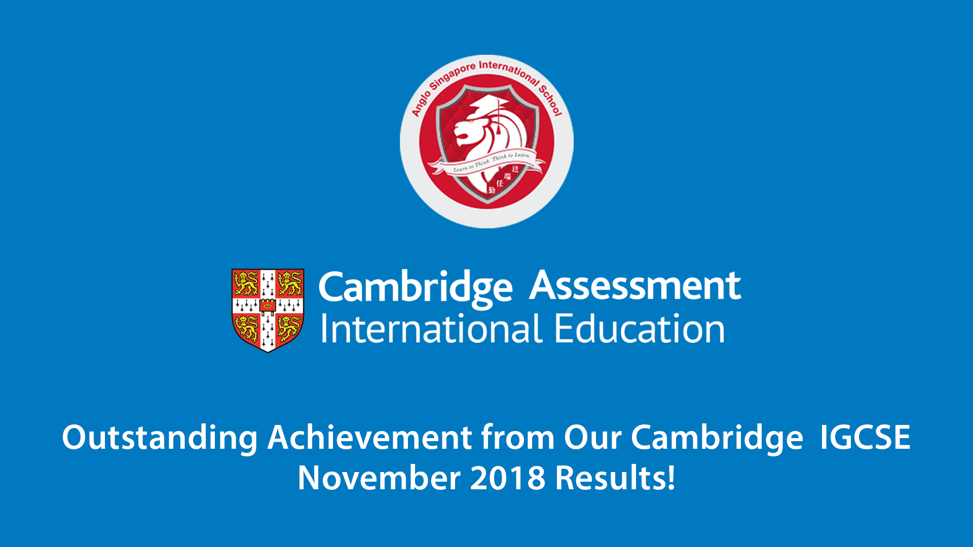 Outstanding Achievement from Our Cambridge Nov 2018 Results